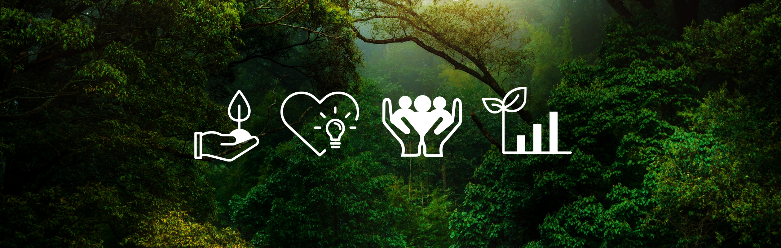 Wald mit Icons